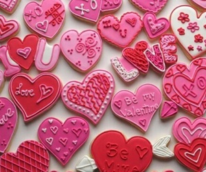 love, pink, and Cookies image
