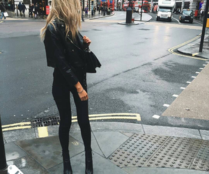 blonde, style, and city image