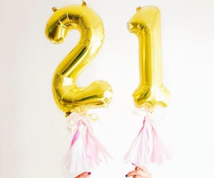 21, balloons, and birthday image