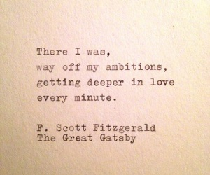 quotes, the great gatsby, and love image