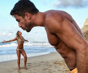 beach, Valentine's Day, and couple image