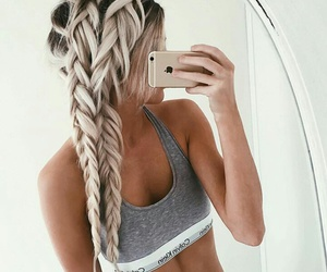 blonde, braid, and cool image