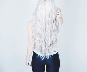hair, beautiful, and white image