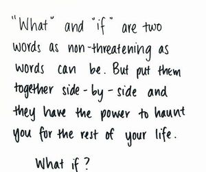 quote, what if, and if image