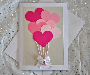 card, heart, and valentine image