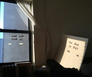 sun, window, and grunge image