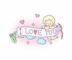 draw, pastel, and I Love You image