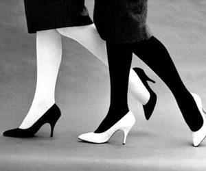 black and white, shoes, and black image