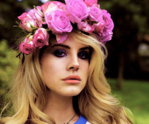 lana del rey and flowers image