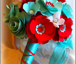 paper flowers, weddings, and bridal bouquet image