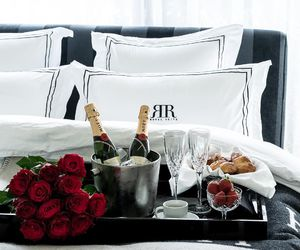 champagne, roses, and love image