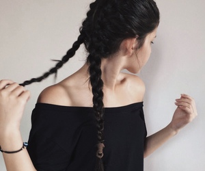 girl, black, and braid image