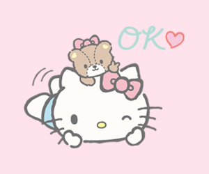 hello kitty, kity, and pastel image