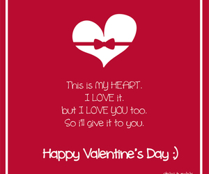 love, heart, and Valentine's Day image