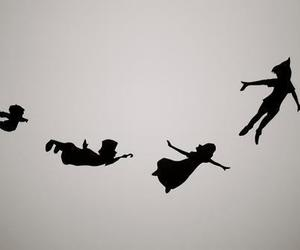 peter pan, disney, and fly image