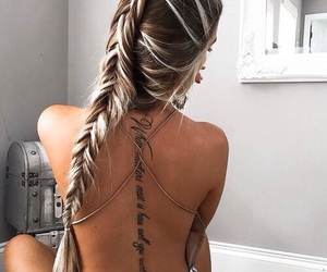 hair goals and tattoo image