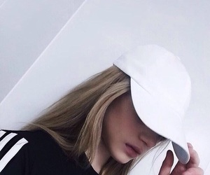 adidas, blonde, and hat image