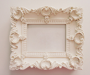 frame, white, and vintage image