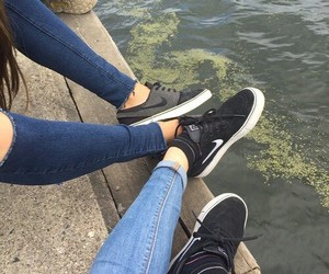 nike, friends, and shoes image