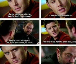 supernatural, crowley, and family image