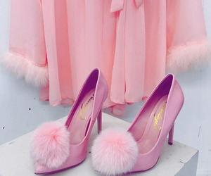 fluff, pink, and heels image