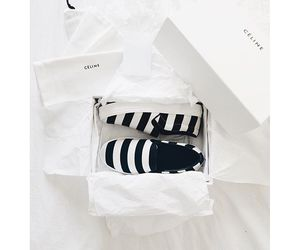 black, shoes, and stripes image