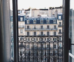 balcony, city, and architecture image