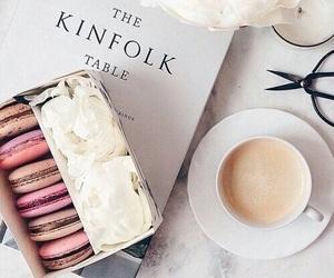 coffee, food, and macaroons image