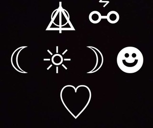 harry potter, heart, and idk image