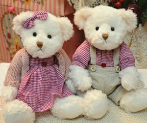 couple, teddies, and cute image