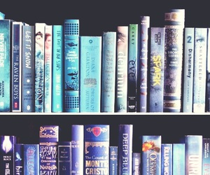 read, blue, and books image