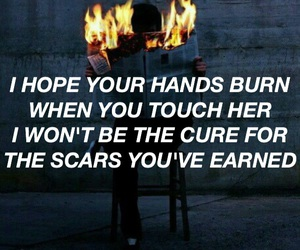 Lyrics, fireproof, and against the current image