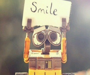 smile, wall-e, and quote image