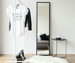 clothes rack, white, and heels image