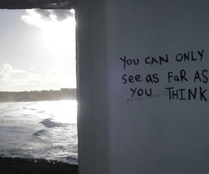 quotes, sea, and think image