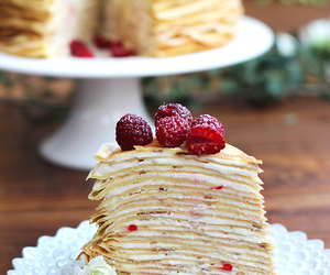 food, cake, and raspberry image