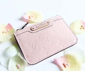 pink, pink purse, and elegant flowers image