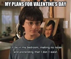 harry potter, Valentine's Day, and funny image