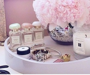 candle, dressing table, and inspiration image