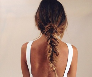 beautiful, hair style, and braid image