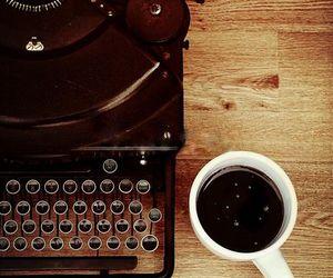 coffee, vintage, and typewriter image