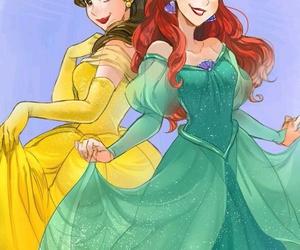 ariel, disney, and belle image