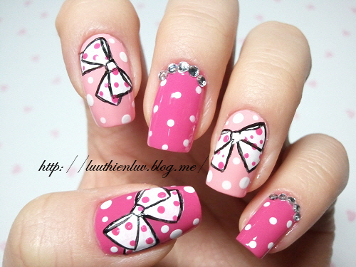 Art Cute Ginlovers Nails Pink Inspiring Picture On Favim