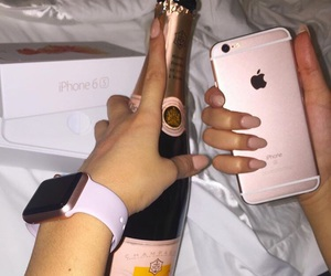 iphone, luxury, and champagne image