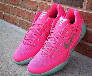 pink, shoes, and basketball shoes image