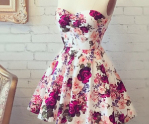 dress, flowers, and clothes image