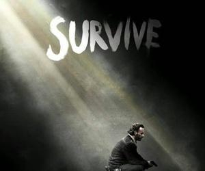 the walking dead, survive, and rick image