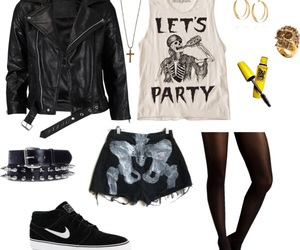 outfit, clothes, and punk image