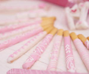 pink, food, and pocky image