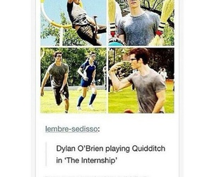 harry potter, dylan o'brien, and the intership image